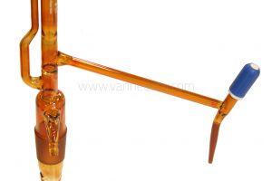 Buret, Pellet, 50ml, AS, glas met PTFE spindel kraan, excl. fles, amber