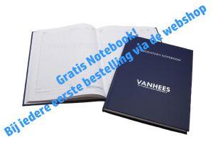 Notitieboek, laboratorium, Van Hees, A4, geruit, 200 pagina