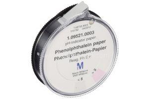 pH indicator papier, Phenolophtaleïne papier, 3rol van 4.8m