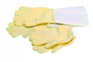 Warmtewerende gebreide handschoen tot 250°C, mt 9-10, met onderarm bescherming, CAT II, per paar