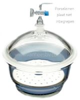 Exsiccator, 300mm, incl. deksel met kraan, Borosilicaat 3.3 glas