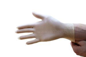 Handschoen latex, ongepoederd, Medium, 100st