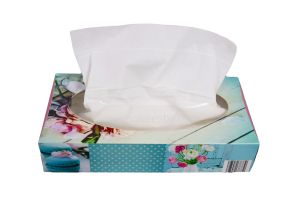 Tissues 20x20cm, 3 lagig wit, 90 per dispenser, 14 stuks per verpakking